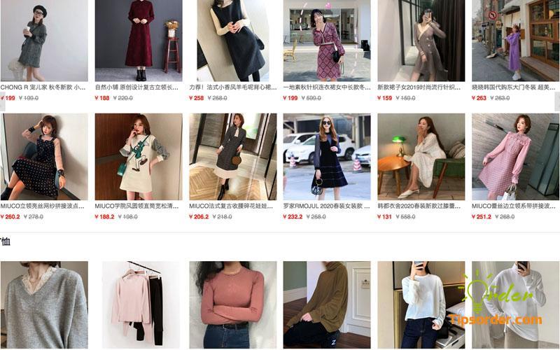 Link order taobao ngành hàng thời trang