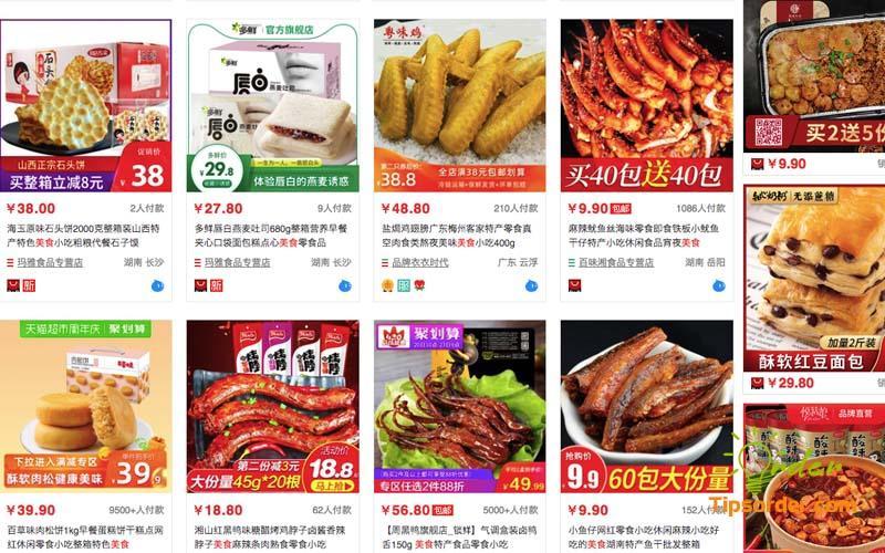 Link order taobao ngành hàng thực phẩm