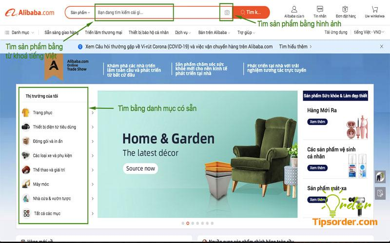 Tìm mua sản phẩm dễ dàng trên Alibaba với 3 cách