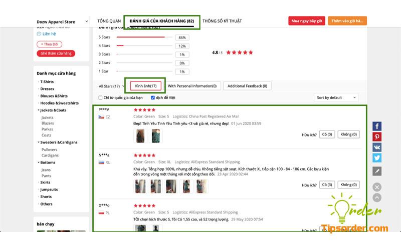 Xem feedback, phản hồi của khách hàng