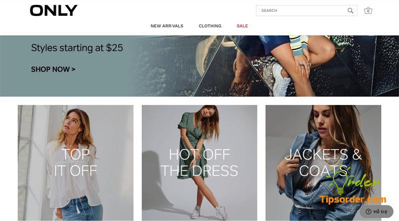 Hãng thời trang ONLY chuyên sản phẩm phong cách phụ nữ Châu Âu