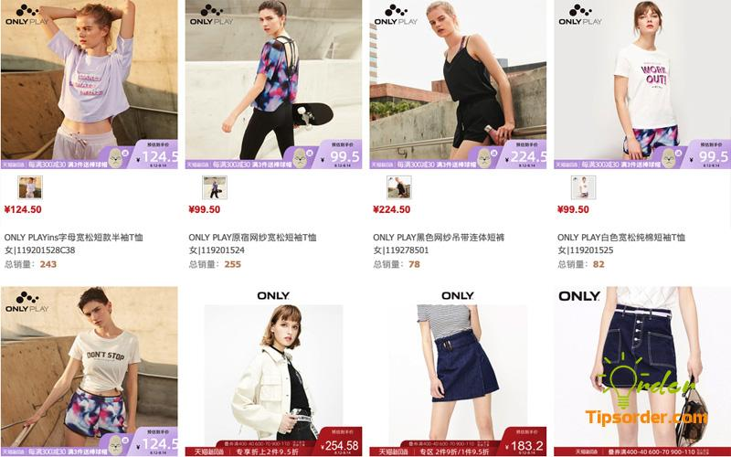 Dễ dàng lựa chọn và mua sản phẩm của ONLY trên Tmall