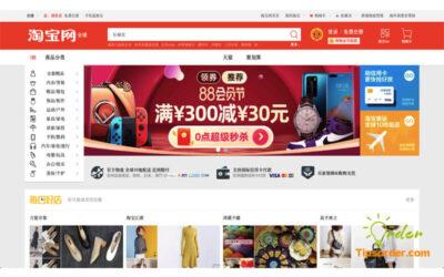 Giao diện mua hàng trên kênh TMĐT Taobao