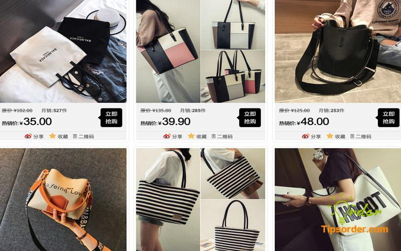 Order túi xách Quảng Châu trên Taobao với list link shop uy tín