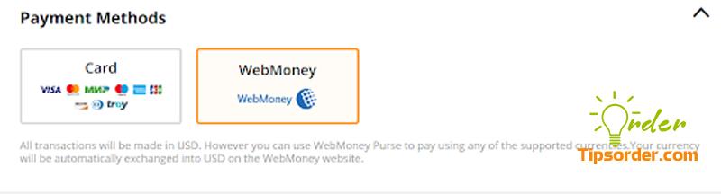 Lựa chọn phương thức thanh toán qua WebMoney trên Aliexpress