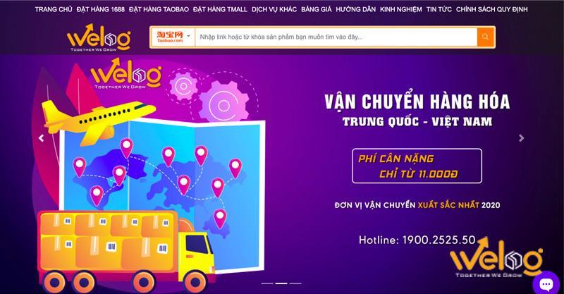 Công ty dịch vụ vận chuyển hàng từ Taobao về Việt Nam uy tín WeLog