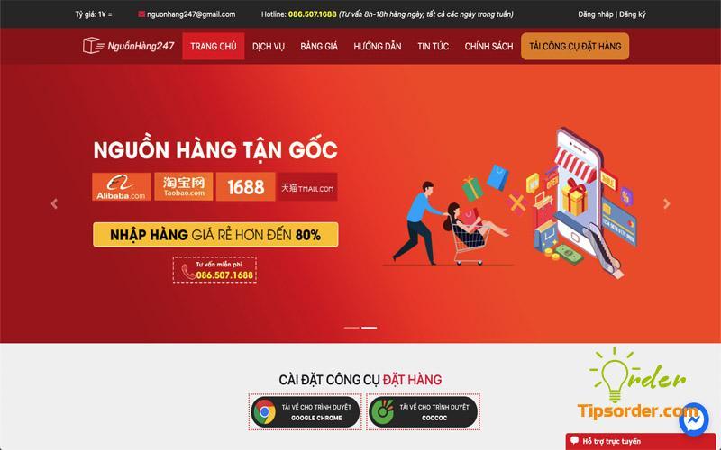 Công ty order hộ hàng Trung Quốc uy tín Nguồn hàng 247