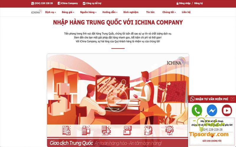 Công ty vận chuyển hàng 1688 uy tín iChina Company