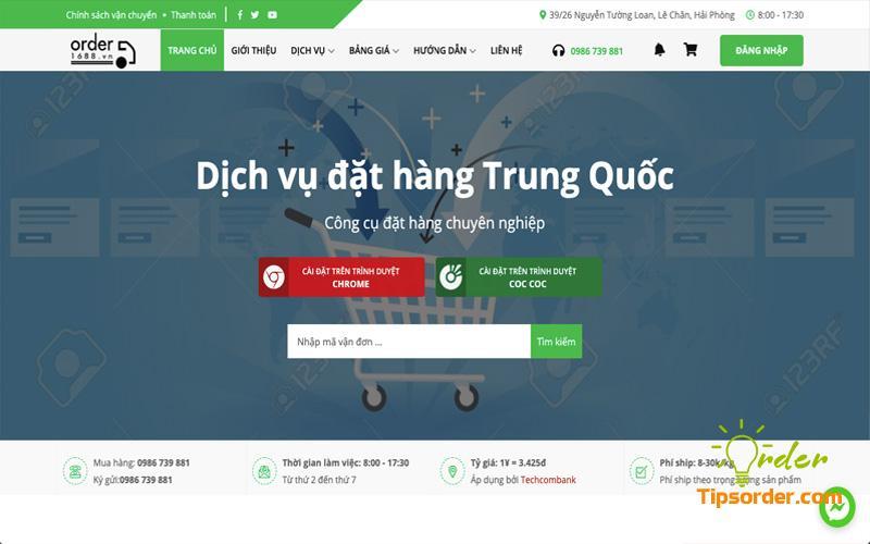 Công ty vận chuyển hàng từ Trung Quốc về Việt Nam uy tín Order1688