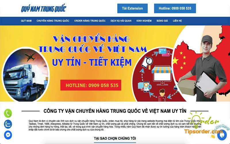 Công ty vận chuyển hàng từ Trung Quốc về Việt Nam uy tín Quý Nam