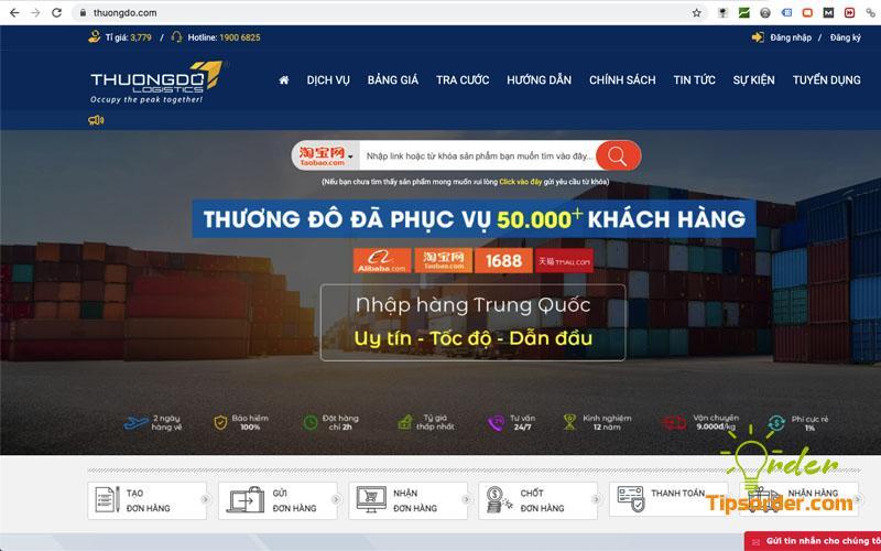 Công ty vận chuyển hàng từ Trung Quốc về Việt Nam uy tín Thương Đô
