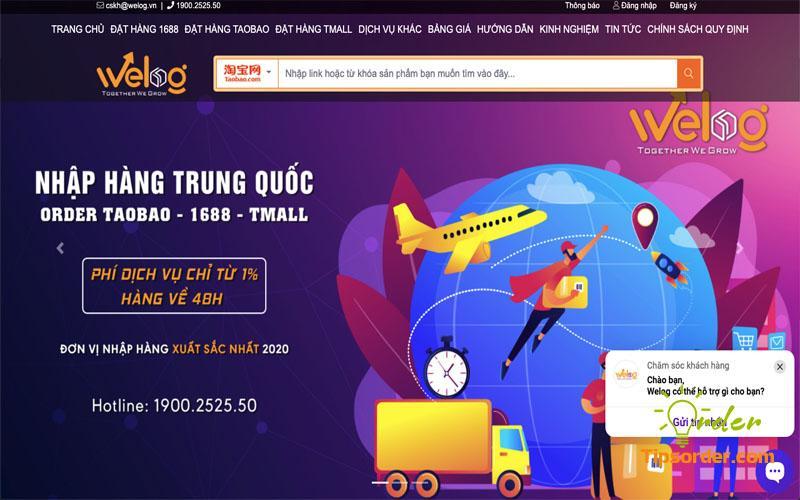 Công ty vận chuyển hàng từ Trung Quốc về Việt Nam uy tín WeLog