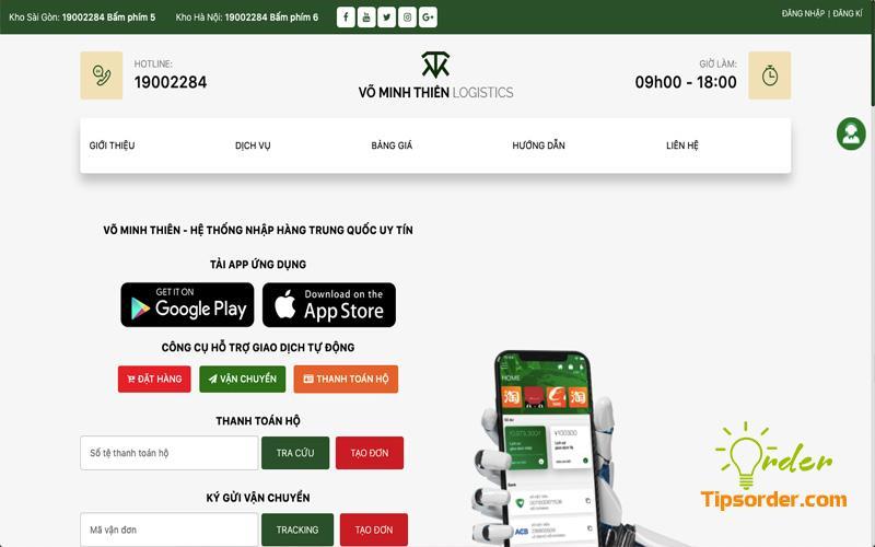 Công ty vận chuyển hàng từ Trung Quốc về Việt Nam uy tín Võ Minh Thiên