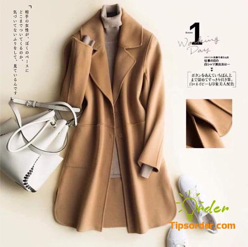 Mẫu áo dạ ép lông cừu dáng dài
