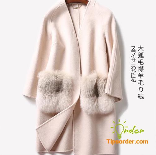 Mẫu áo dạ ép Quảng Châu lông thỏ