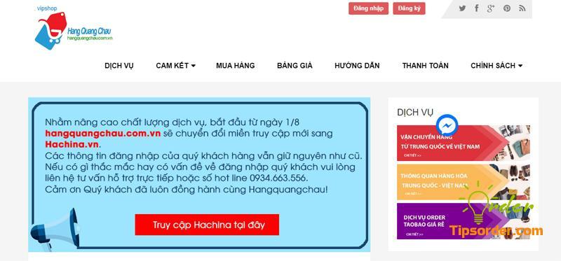 Hangquangchau đang chuyển web sang Hachina nên quý khách cần click đúng link để đăng nhập