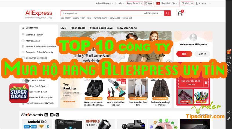 TOP 10 công ty mua hộ hàng trên Aliexpress uy tín tại Việt Nam