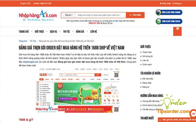 Công ty đặt hộ hàng Taobao uy tín Nhập hàng Ali