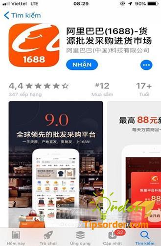 Tải và cài đặt app 1688 về điện thoại của bạn