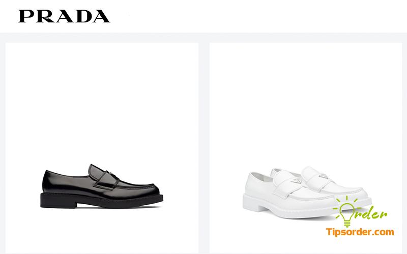 Giày lười hiệu Prada phù hợp cho anh em công sở.