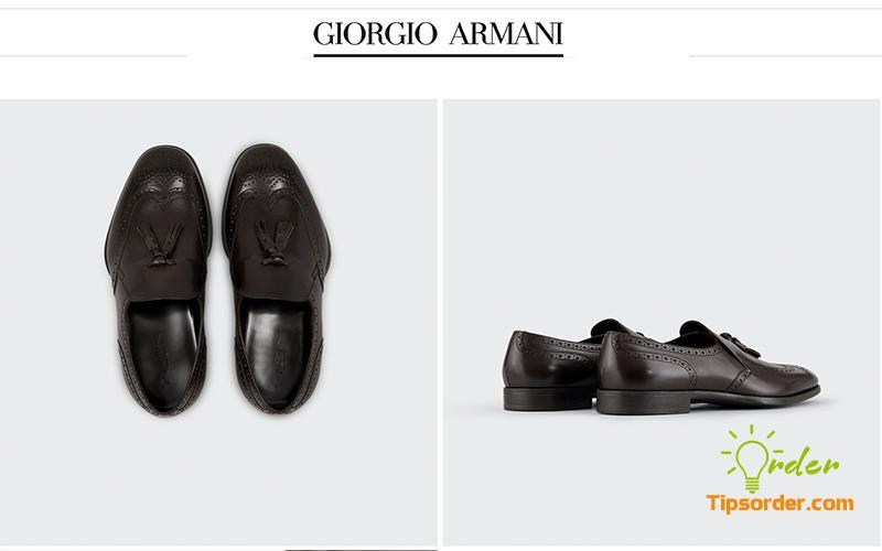 Đi kèm một bộ suit thì không thể thiếu được Armani rồi phải không anh em.