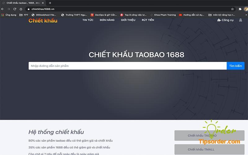 Trang web của chietkhau1688 mà mình sử dụng.