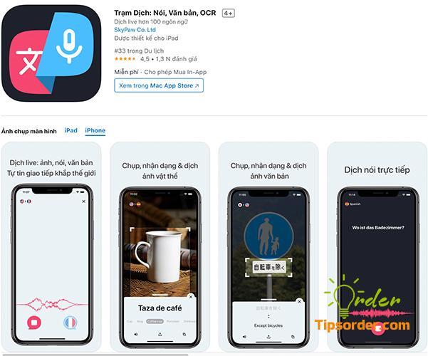Trạm Dịch: Nói,Văn bản,OCR trong cửa hàng ứng dụng Appstore.