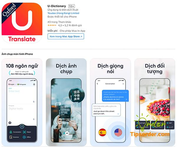 U- Dictionary trong cửa hàng ứng dụng Appstore