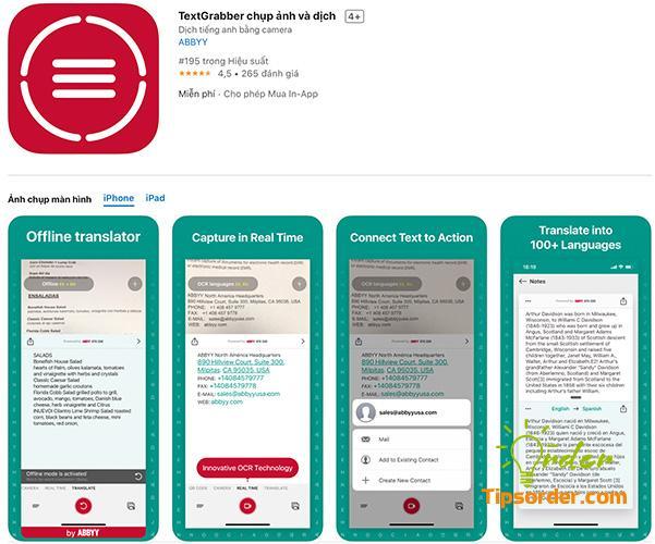 TextGrabber trong cửa hàng ứng dụng Appstore