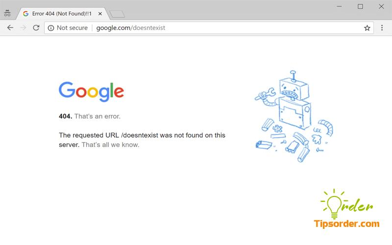 Hình ảnh lỗi ERR 404 mà bạn đã gặp.