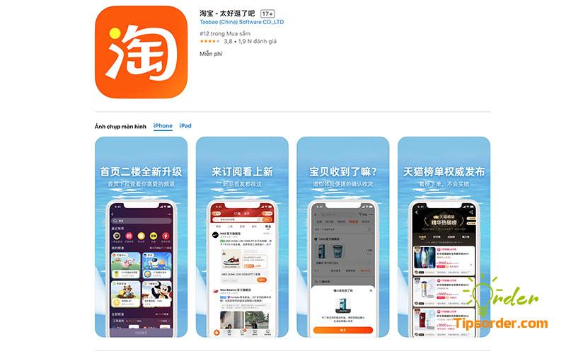 Hình ảnh ứng dụng Taobao trên Appstore.