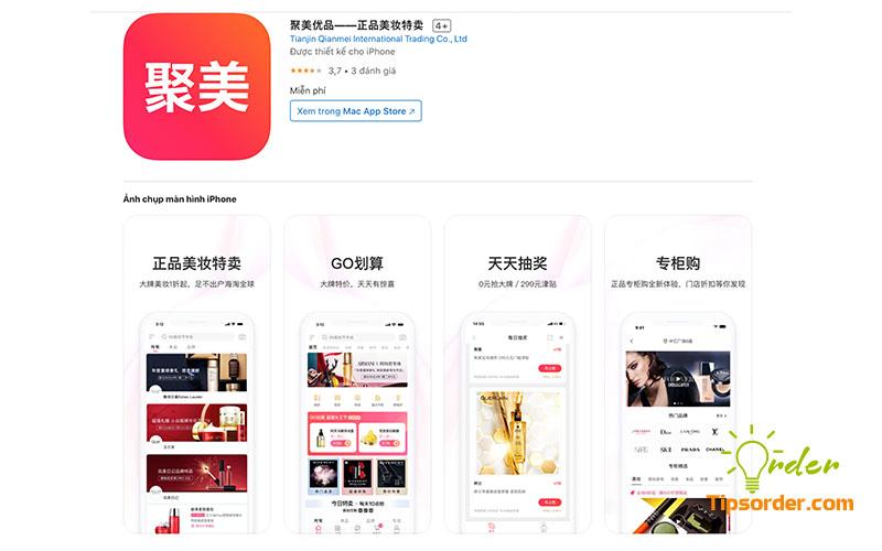 Hình ảnh ứng dụng Jumei.com trên Appstore.