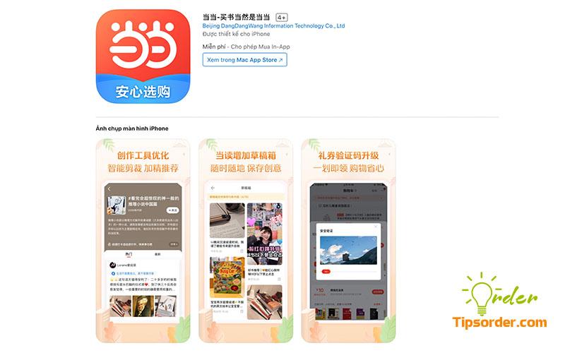 Hình ảnh ứng dụng Dangdang.com trên Appstore.
