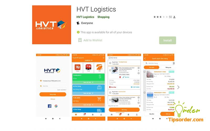 Hình ảnh ứng dụng HTV Logistic trên CHplay.