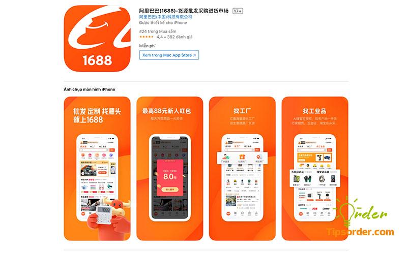 Hình ảnh ứng dụng 1688 trên Appstore.