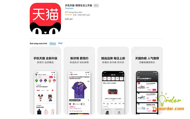 Hình ảnh ứng dụng Tmall trên Appstore.