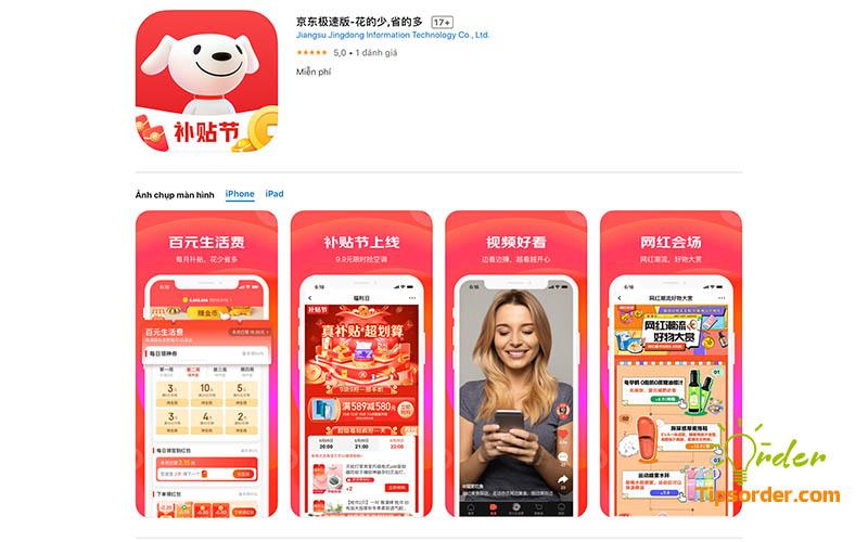 Hình ảnh ứng dụng JD.com trên Appstore.