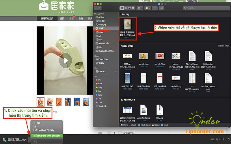 Thư mục chứa video được tải về từ Taobao như hình ảnh trên.