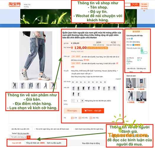 Các bạn có thể biết các thông tin chi tiết của một sản phẩm qua các mục như hình trên.