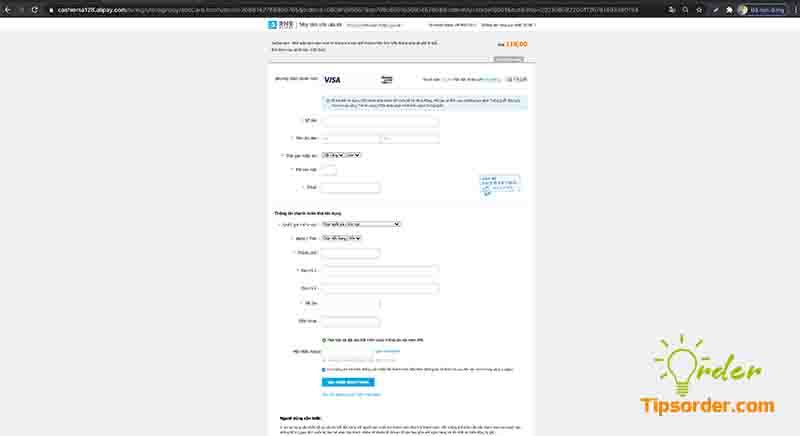 Các thông tin xác thực đối với thẻ thanh toán ngoài Trung Quốc.