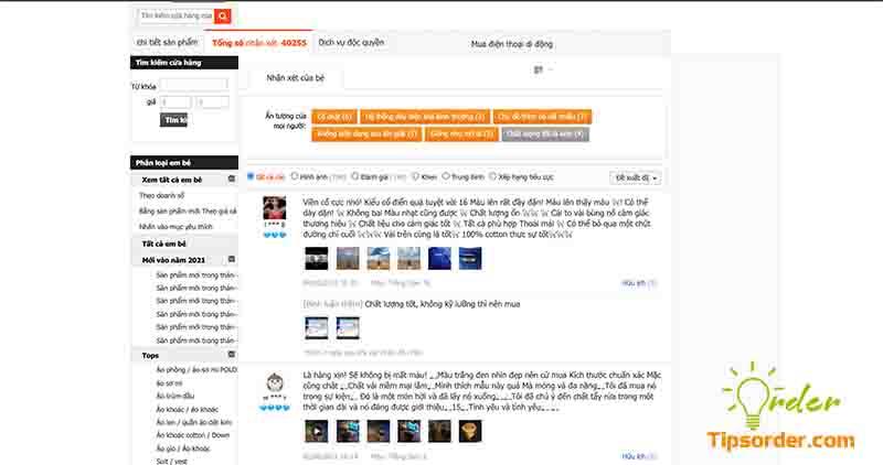 Các bạn có thể đọc bình luận từ khách hàng đã mua sản phẩm như trên.